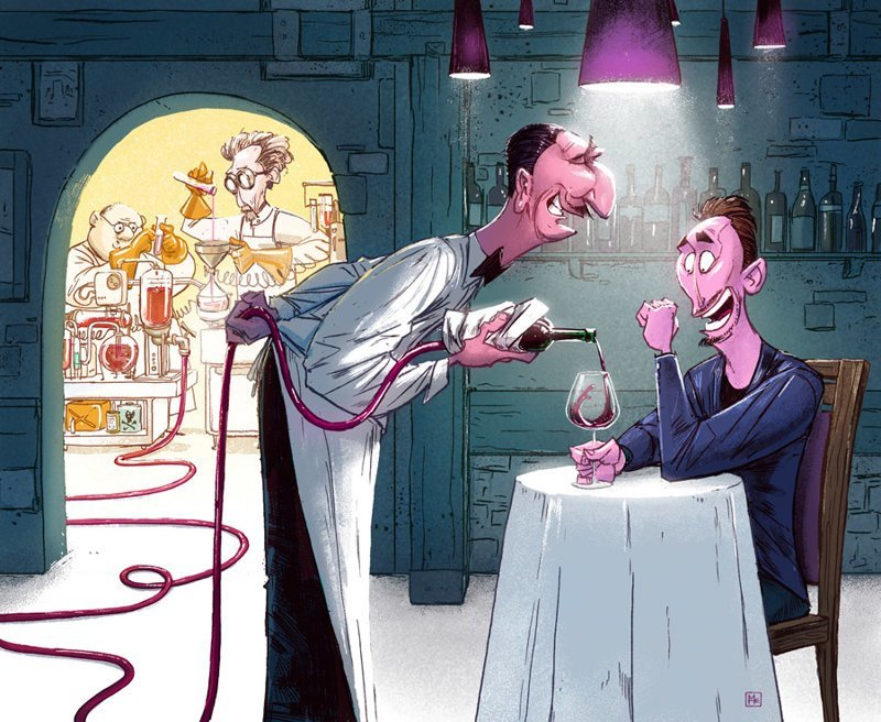 Винная химия Михаил Дзекан, в мире, карикатура, люди, мир, рисунок, фантазия, художник