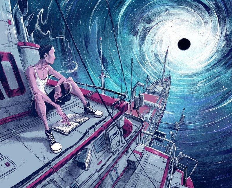 Чёрная дыра Михаил Дзекан, в мире, карикатура, люди, мир, рисунок, фантазия, художник