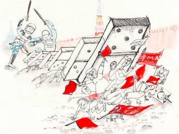 Пролетарии всех стран, разбегайтесь! бесэдер, карикатуры, мировые новости, новости, рисунки, юмор