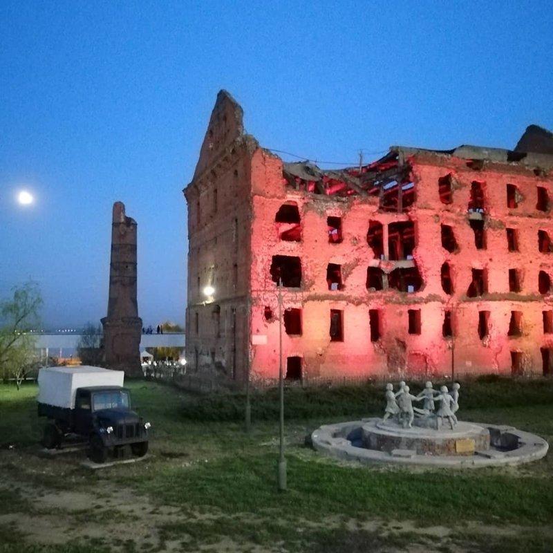 3. Разрушенная мельница Грудинина в Волгограде  боеприпасы, война, история, оружие, следы войны, танки, фото, эхо войны