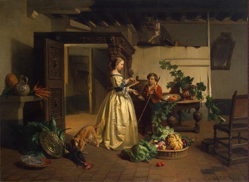 Тот же XVII век. «На кухне» путешествие во времени, шутка, юмор