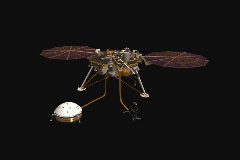 Аппарат InSight nasa, ynews, исследования, космос, марс, марсоход