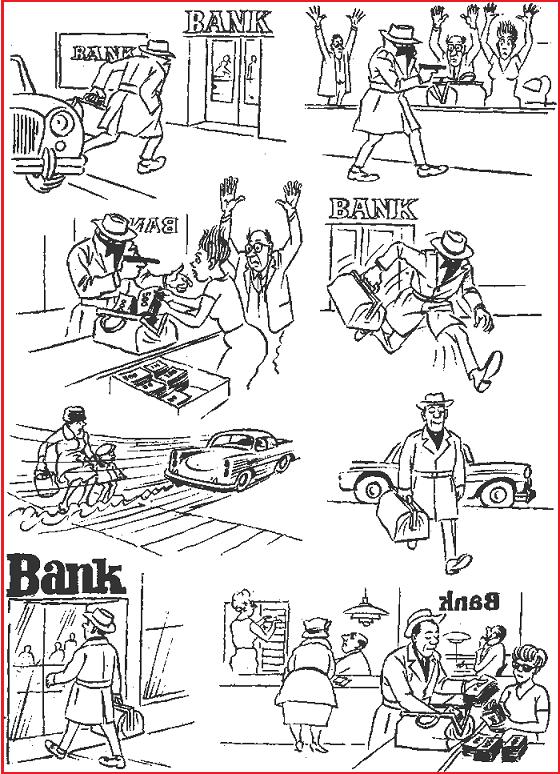 Банковские операции Бидструп, карикатуры, юмор