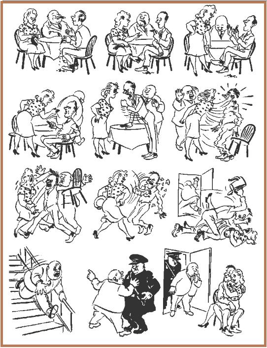 Дела семейные Бидструп, карикатуры, юмор