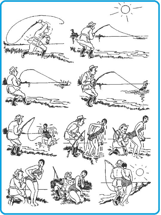 Улов Бидструп, карикатуры, юмор