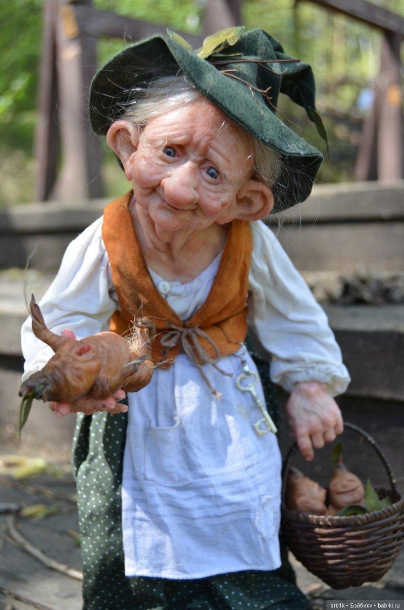 Лесная колдунья. Катрушова Татьяна, авторские куклы, герои сказок