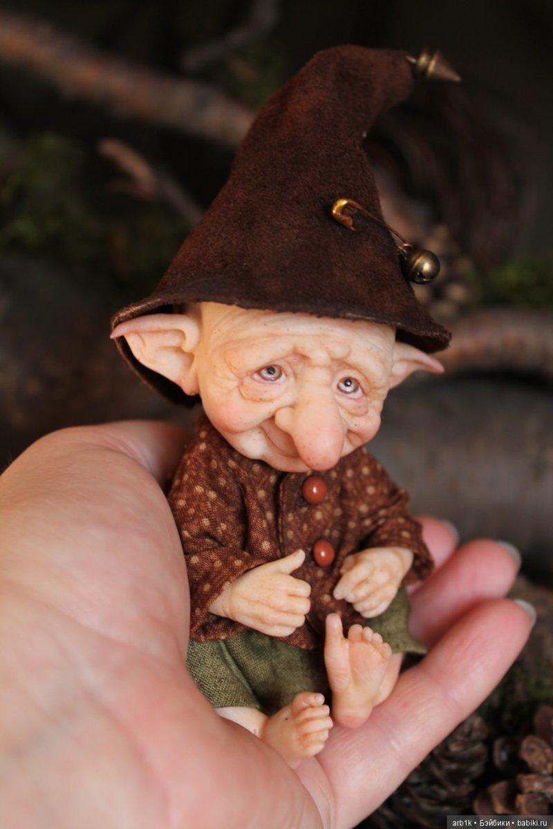 Лесные гномики. Катрушова Татьяна, авторские куклы, герои сказок