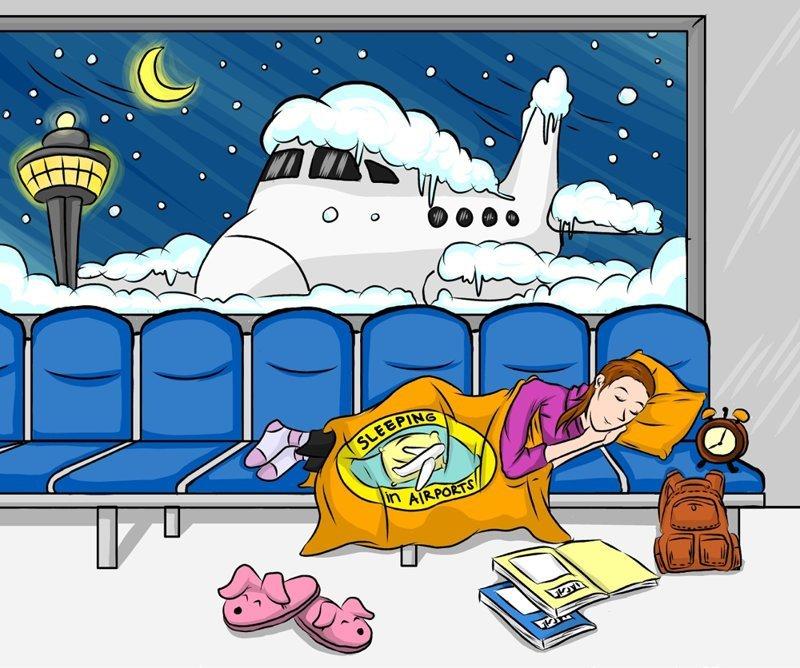Про спящих в аэропорту: полезности и байки путешествия, советы, сон в аэропорту