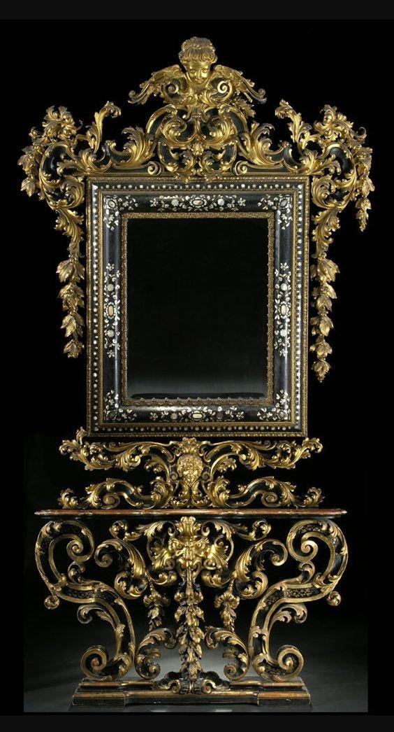 Италия, 19 век антиквариат, зеркала, интересное, красота, факты