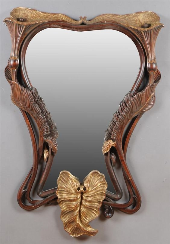Зеркало в стиле Арт-нуво, Россия, 20 век антиквариат, зеркала, интересное, красота, факты
