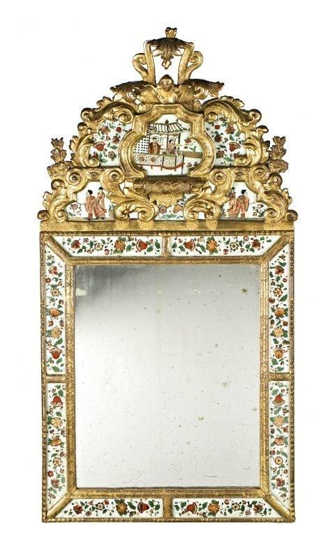 Приписывается шведам, XVIII столетие, позолоченное зеркало с персонажами антиквариат, зеркала, интересное, красота, факты