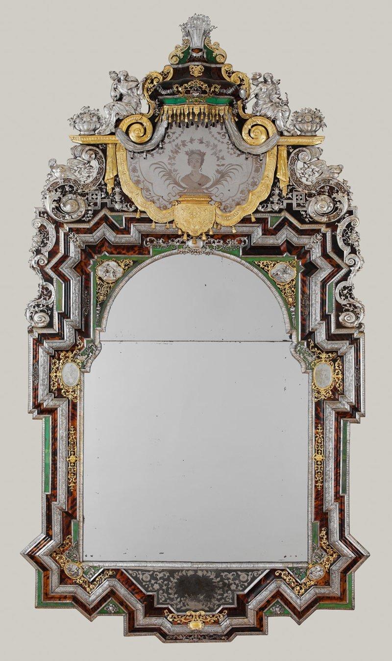 Германия 1710 год антиквариат, зеркала, интересное, красота, факты