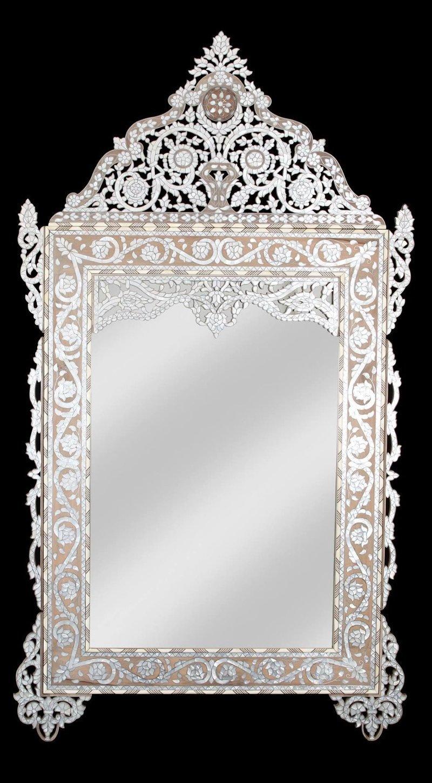 """""""Жемчужное зеркало"""", работа современных сирийских мастеров антиквариат, зеркала, интересное, красота, факты"""