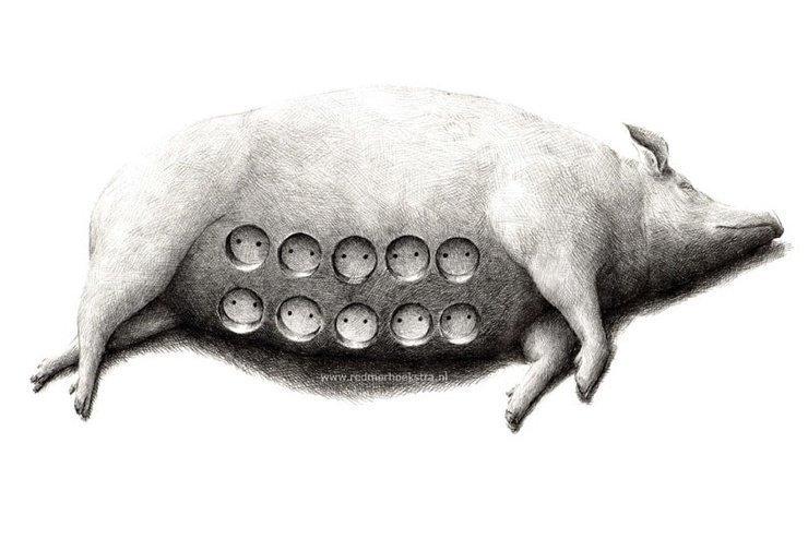 Работы нидерландского художника, который ловко переворачивает привычные вещи с ног на голову игры разума, сюрреализм, художества