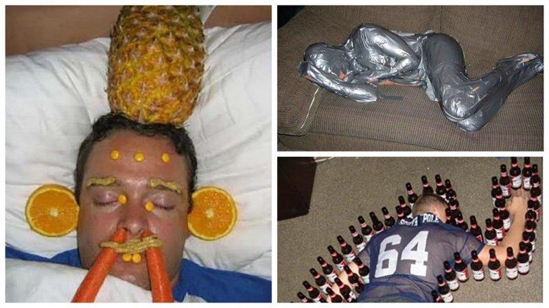 Почему нельзя засыпать на мальчишнике вечеринка, мальчишник, ничего себе, подшутили, подшутили над другом, приколы, холостяк приколы, шутки