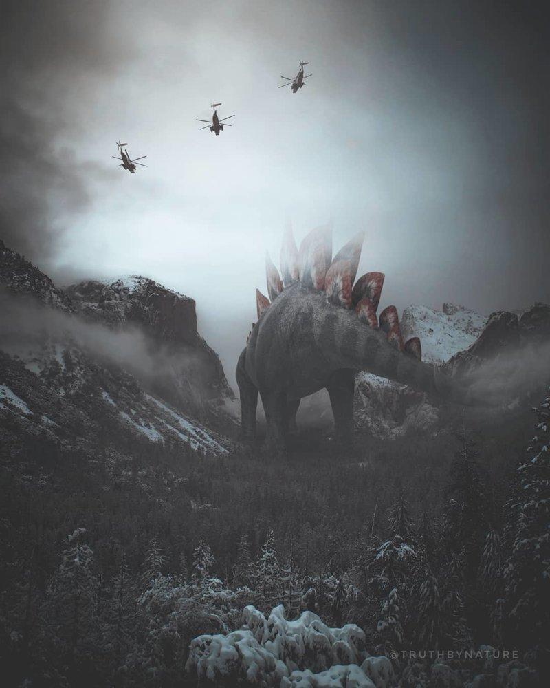 Земля, захваченная гигантскими животными truth by nature, искусство, фотографии, фотошоп, цифровое искусство