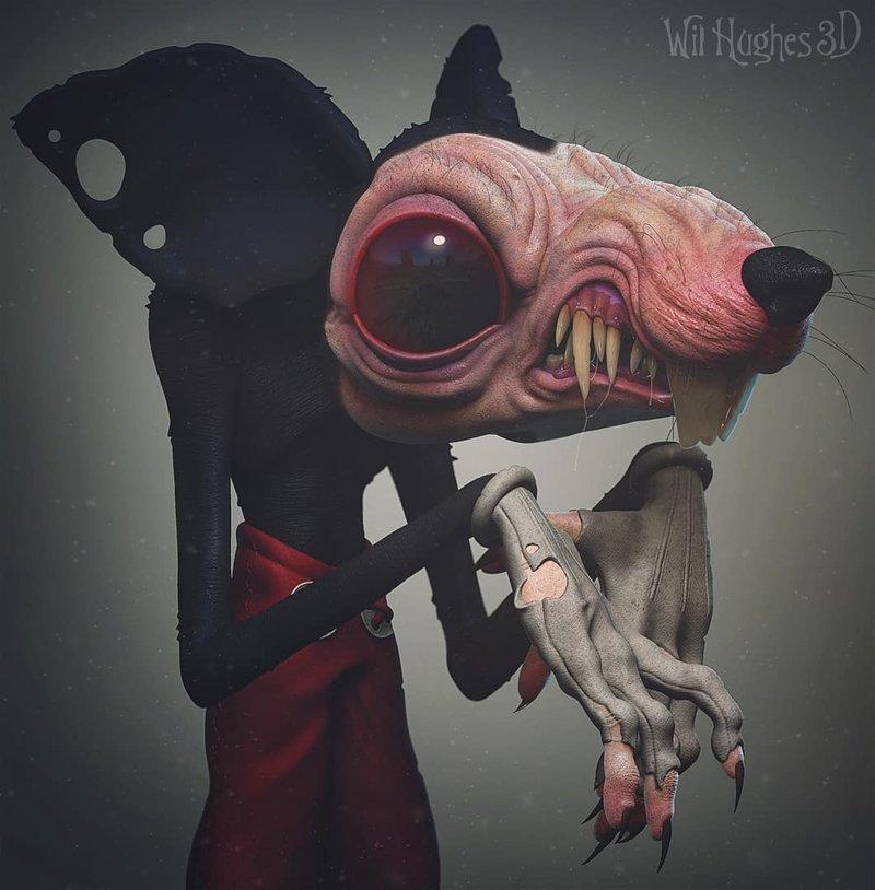 Микки Маус искусство, персонажи, рисунки, ужастики