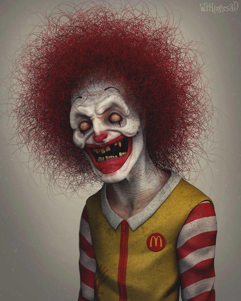Рональд Макдональд искусство, персонажи, рисунки, ужастики