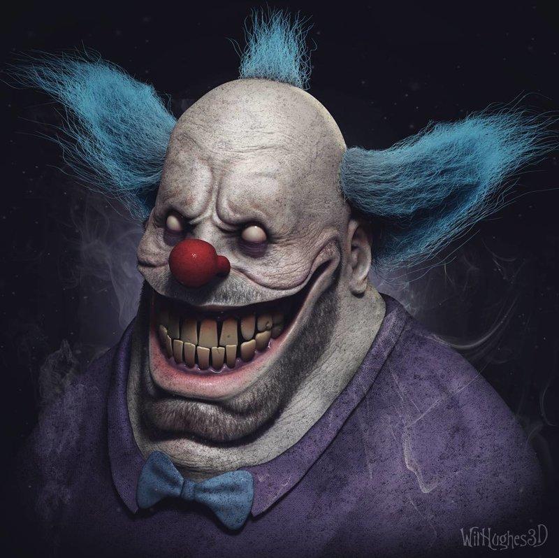 Клоун Красти (Симпсоны) искусство, персонажи, рисунки, ужастики