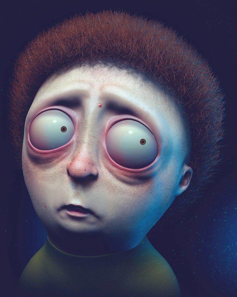 Морти (Рик и Морти) искусство, персонажи, рисунки, ужастики