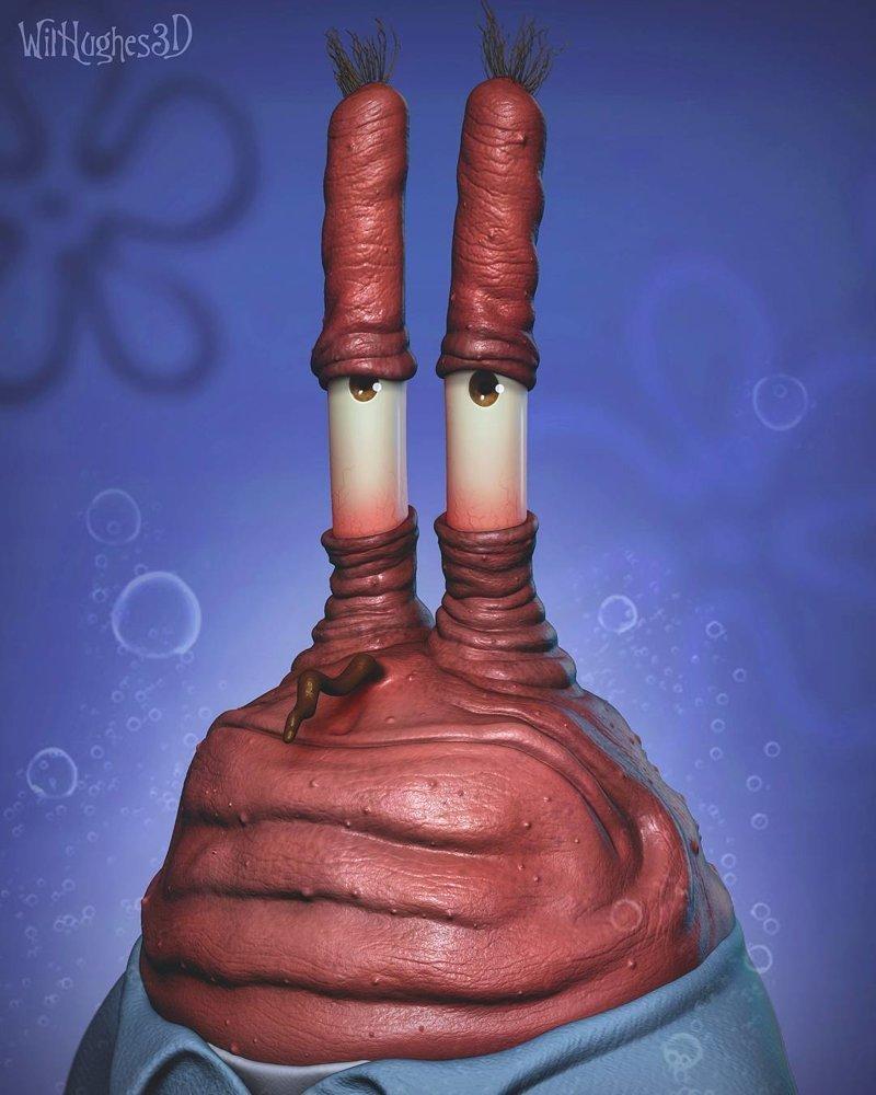 Мистер Крабс (Губка Боб Квадратные штаны) искусство, персонажи, рисунки, ужастики