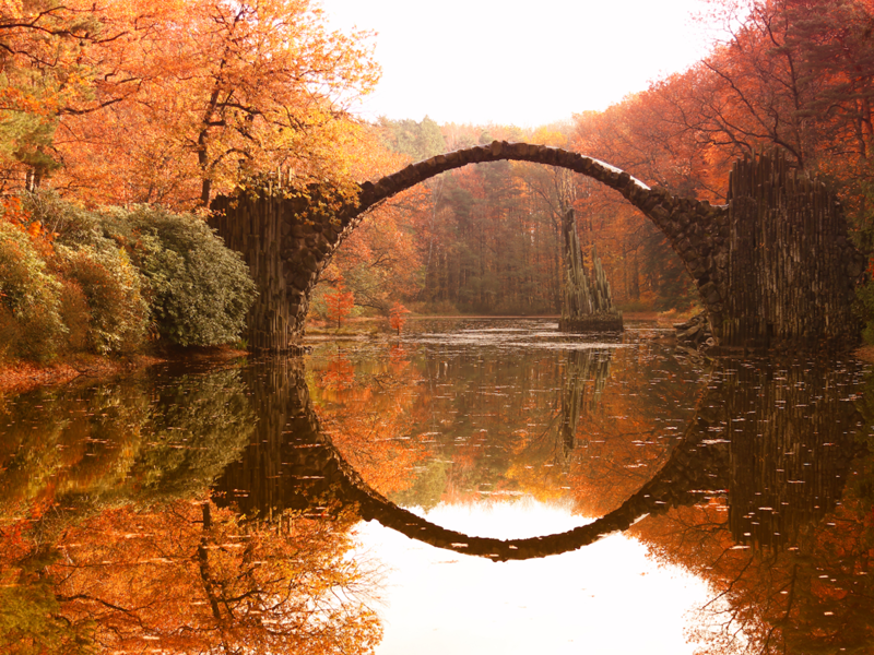 Мост дьявола - Габленц, Германия Весь Мир, иллюзии, интересно, необычно, оптические иллюзии, путешествия, удивительно, удивительное рядом