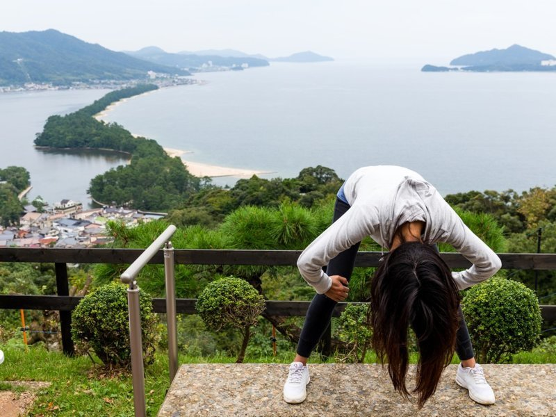 Аманохасидате - Киото, Япония Весь Мир, иллюзии, интересно, необычно, оптические иллюзии, путешествия, удивительно, удивительное рядом