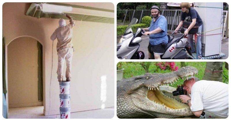 Фотографии, наглядно показывающие, почему женщины живут дольше мужчин в мире, жизнь, забавно, кадр, люди, мужчины, юмор