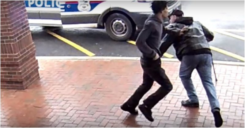 Пожилой мужчина помог полицейским задержать вооруженного преступника видео, задержание, пенсионер, полиция, преступник, сша