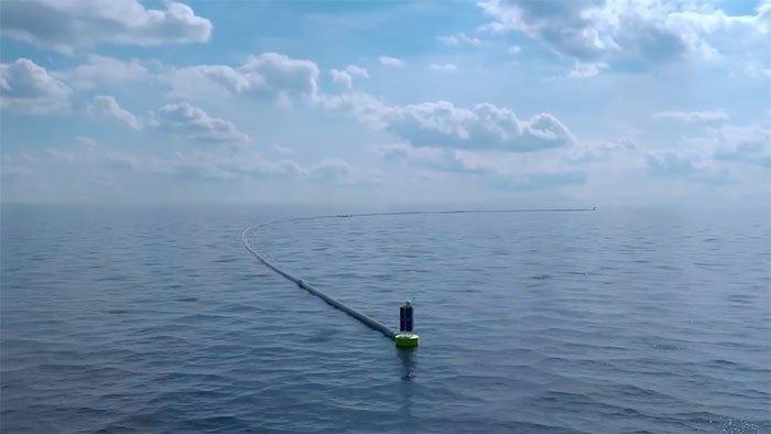 Используя полученные данные, Боян разработал особую систему плавучих барьеров  Боян Слат, барьер, мир, мусор, океан, очистка, пластик, проект