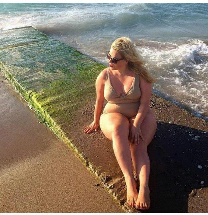 16. Катерина Погоржельски бикини, бодипозитив, вес, женщина, купальник, особенность, тело, фото