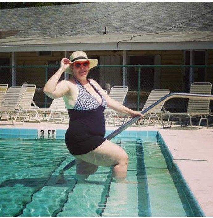 17. Криста Линн бикини, бодипозитив, вес, женщина, купальник, особенность, тело, фото