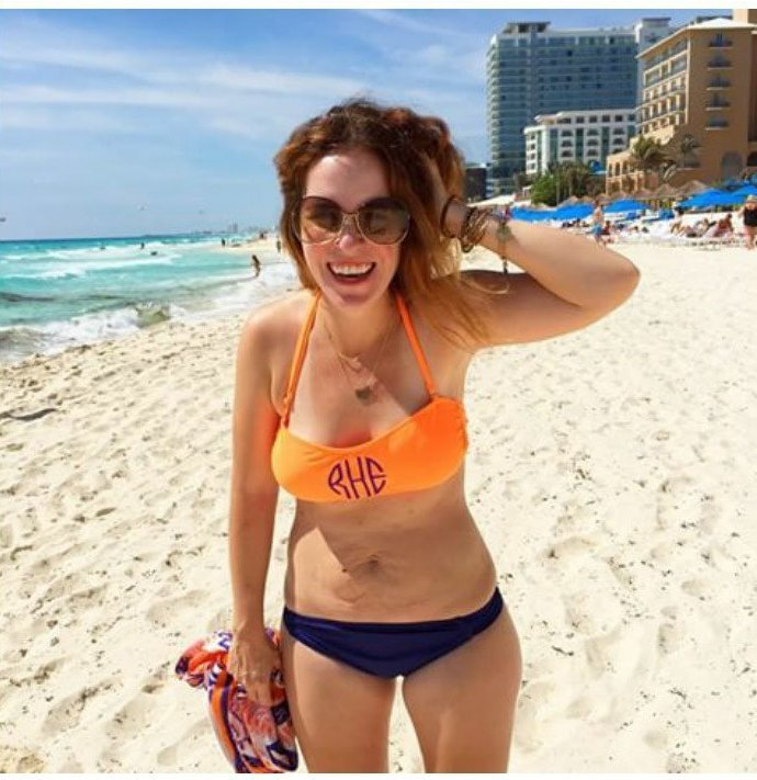 8. Рейчел Холлис бикини, бодипозитив, вес, женщина, купальник, особенность, тело, фото