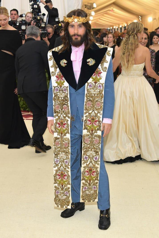 """Джаред Лето """"скромно"""" примерил образ Иисуса Met Gala, в мире, звезды, знаменитости, красная дорожка, мода, образы звезд, фото"""