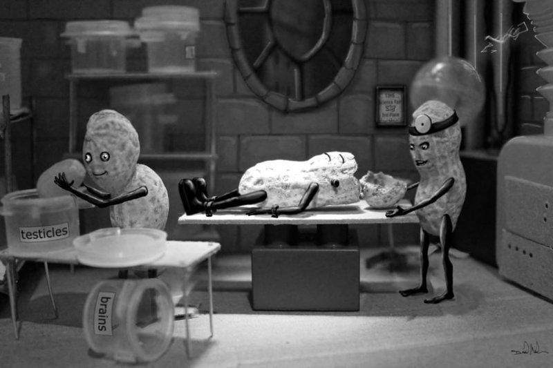 """А это похоже на кадр из фильма """"Франкенштейн""""  арахис, дизайн, искусство, комиксы, художник"""