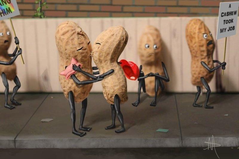 А это арахисы на митинге  арахис, дизайн, искусство, комиксы, художник