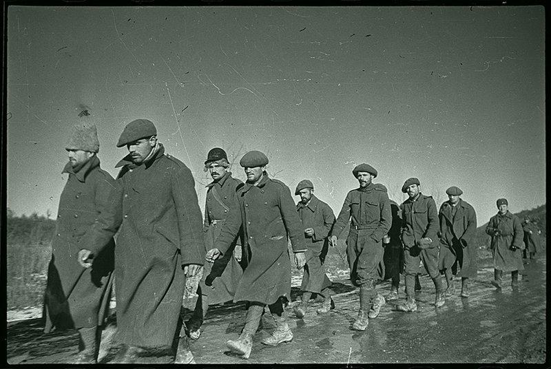 Пленные румынские солдаты. Северный Кавказ, 1942. Великая Отечественная  война, СССР, история