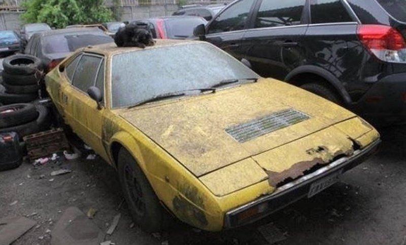 Ferrari Dino авто, автомобили, заброшенные автомобили, машины