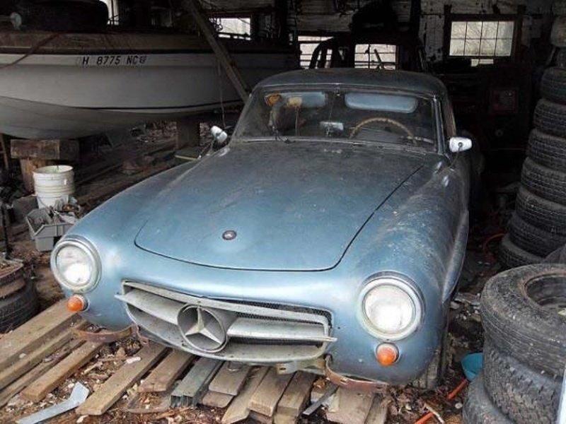 Mercedes 190SL авто, автомобили, заброшенные автомобили, машины