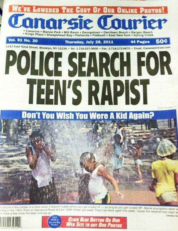 «Полиция разыскивает педофила». Ниже — «Неужели вы не хотели бы вернуться в детство?». приколы, тексты, фото