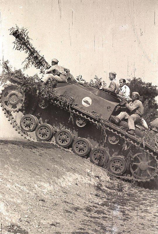 Немецкие САУ StuG III на учениях в югославской народной армии. 1947 г. вов, военное, интересное, история, трофеи, фото