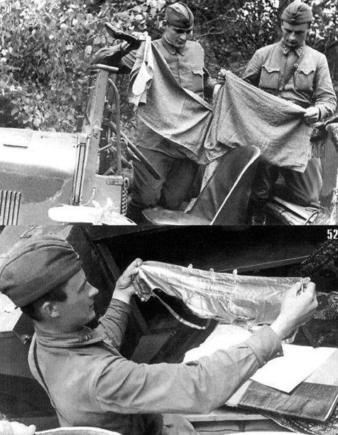 Бойцы Красной армии осматривают брошенный немецкий тягач вов, военное, интересное, история, трофеи, фото