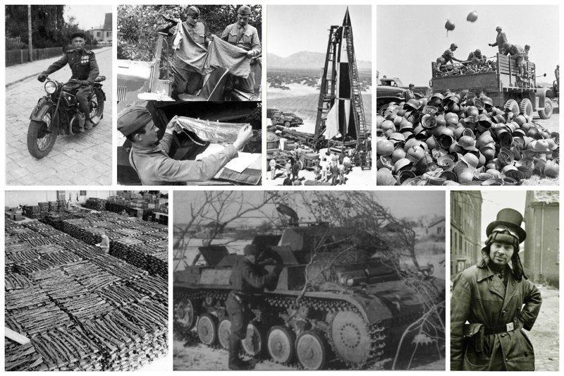 Военные трофеи СССР и союзников  в исторических фото вов, военное, интересное, история, трофеи, фото