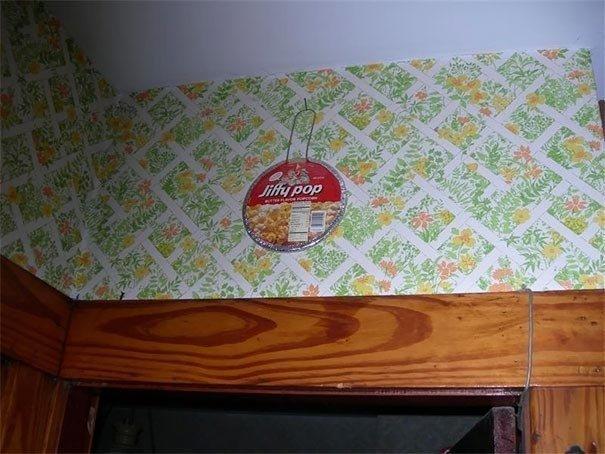 Нет пожарной сигнализации? Просто подвесьте упаковку попкорна! Вы узнаете о пожаре, как только его зёрна начнут взрываться Лайфхак, идея, советы, хитрости, юмор