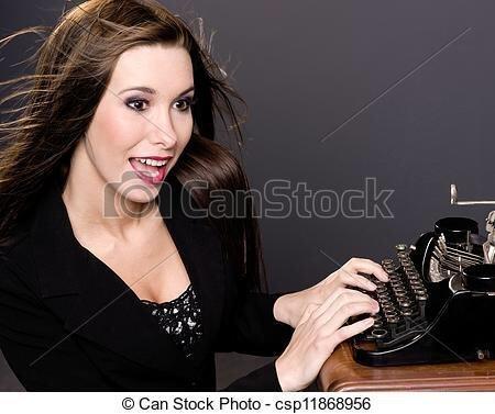 «Писатели не умеют пользоваться компьютерами, только печатными машинками и гусиными перьями» кадр, люди, прикол, профессия, снимок, стоковое фото, юмор