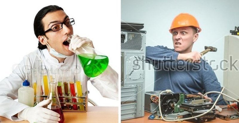 Пользователи сети делятся худшими стоковыми фото своих профессий, на которых творится что-то странное кадр, люди, прикол, профессия, снимок, стоковое фото, юмор