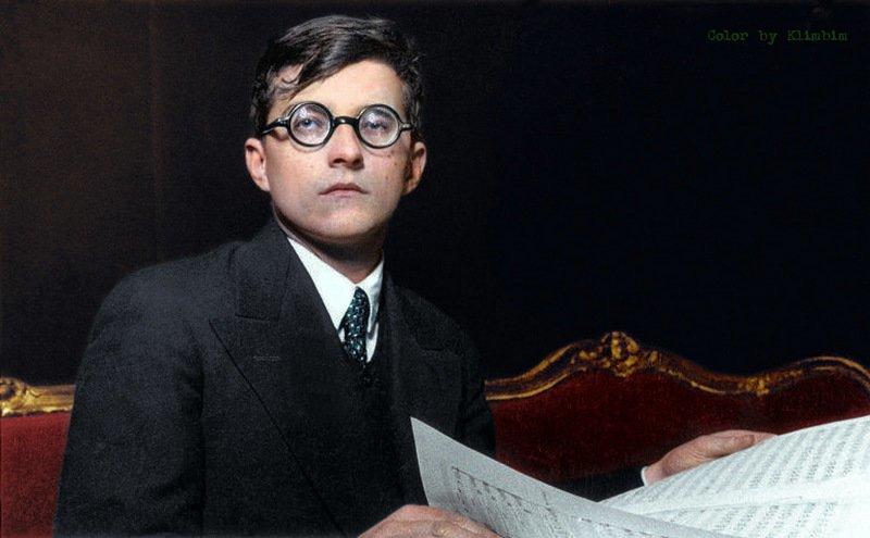 Композитор Дмитрий Шостакович. колоризация, личности, портреты