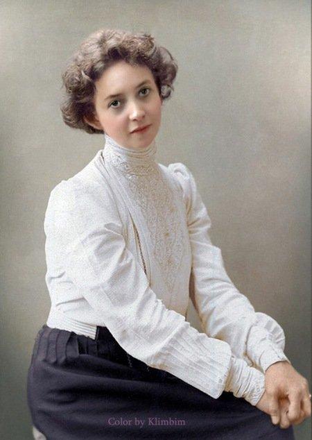 Актриса Вера Комиссаржевская. колоризация, личности, портреты