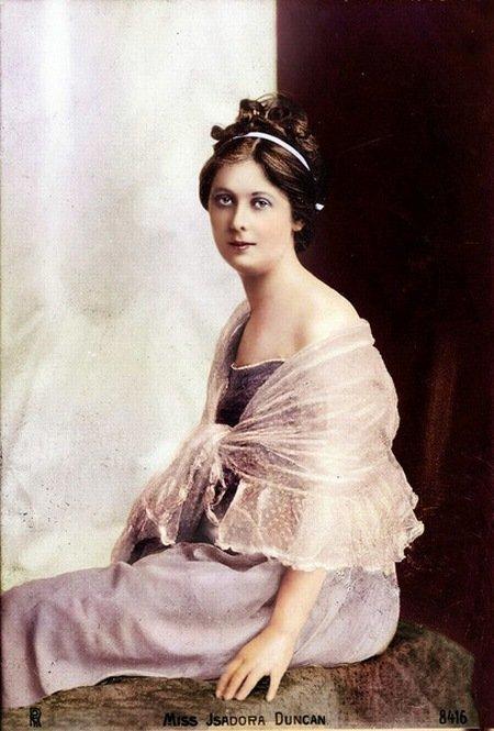 Танцовщица Айседора Дункан. колоризация, личности, портреты