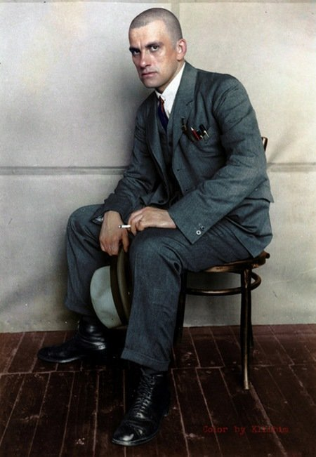 Владимир Маяковский, 1924 год. колоризация, личности, портреты